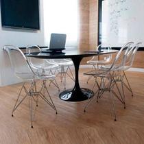 Mesa Jantar Oval Saarinen São Gabriel 160x90x75 - Decorafast