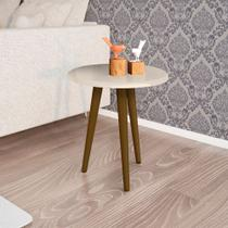 Mesa Lateral Sala de Estar Cor Off White - Moveis bechara