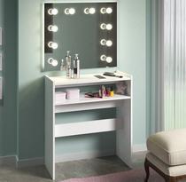 Mesa Manicure Com Prateleira Para Estufa Unha Em Gel 70cm - Clickforte