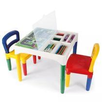 Mesa Mesinha Infantil Atividades Didática Cadeiras Infantil - Poliplac
