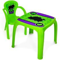 Mesa Mesinha Infantil Com 1 Cadeira verde Hulk - Usual Brinquedos