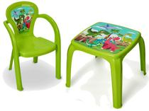 Mesa Mesinha Infantil Decorada Dinossauro Com 1 Cadeira - Usual Utilidades