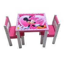 Mesa Mesinha Infantil Didática 2 Cadeiras Educativa Brinquedo Criança Provençal - dwr moveis