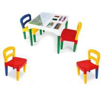 Mesa Mesinha Infantil Didática Com 4 Cadeiras - Poliplac -