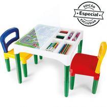 Mesa Mesinha Infantil Didática Com Cadeiras - Poliplac
