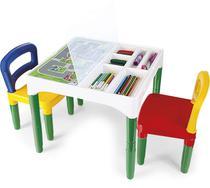 Mesa Mesinha Infantil Didática Com Cadeiras - Poliplac -