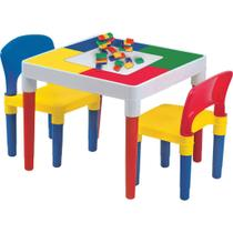 Mesa Multi Atividades Com Blocos De Montar Bell Toy -