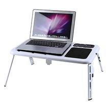 Mesa Notebook Com Cooler Dobrável Suporte Base Mousepad - Biashop