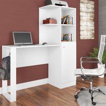 Mesa Notebook/Escrivaninha  01 Porta e Armário Califórnia Branco - Art In Móveis -