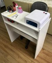 Mesa p/ Manicure Organizador Base p/ Esmaltes Toalhas - Clickforte
