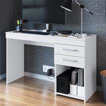 Mesa Para Computador 2 Gavetas Mt102 Branco - Decibal Móveis -