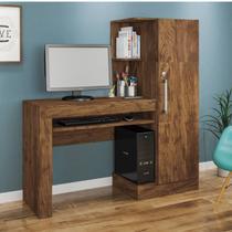 Mesa para Computador com Armário 1 Porta 1 Gaveta Office Valdemóveis Ipê -