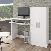Mesa para Computador com Armário 2 Portas Irlanda Atualle Móveis Branco Fosco -