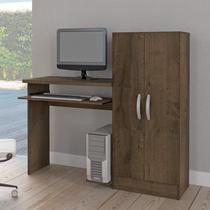 Mesa para Computador com Armário 2 Portas Irlanda Atualle Móveis Mocaccino Rústico -