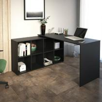 Mesa Para Computador de Canto Artany com 8 Nichos Nero -