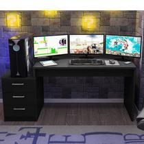 Mesa para Computador Desk Gamer DRX 6000 Espresso Móveis Preto -