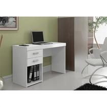 Mesa para Computador e Notebook com 2 Gavetas Malta Branco - Politorno -