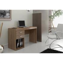 Mesa para Computador e Notebook com 2 Gavetas Malta Castanho - Politorno -