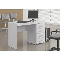 Mesa para Computador e Notebook com 4 Gavetas Malta Branco - Politorno -