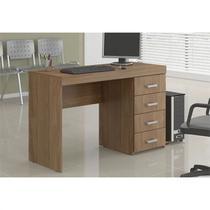 Mesa para Computador e Notebook com 4 Gavetas Malta Castanho - Politorno -