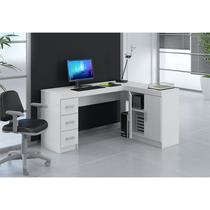 Mesa para Computador e Notebook de Canto Espanha Branco - Politorno -