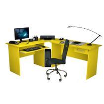 Mesa para Computador Escrivaninha Completa Master Zanzini Amarela -