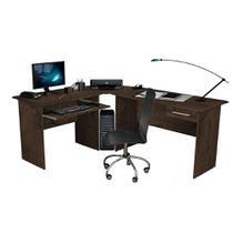 Mesa para Computador Escrivaninha Completa Master Zanzini Tabaco -