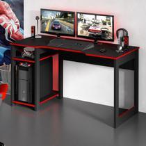 Mesa para Computador Gamer 1,36m com Suporte para Monitores ME4152 Tecno Móbili -