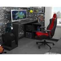 Mesa para Computador Gamer BMG 03 - Preto - Brv