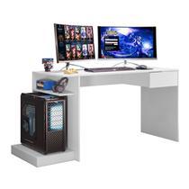 Mesa Para Computador Gamer Monster Branco Mobler -