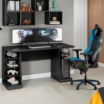 Mesa para Computador Gamer Preto NT2020 com 4 Prateleiras e Gancho para HeadSet - Notável