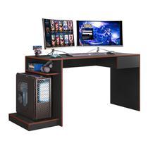 Mesa Para Computador Gamer Preto Vermelho Mobler -