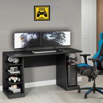 Mesa para Computador/Gamer XP Preto All Black com 6 Prateleiras e Gancho para HeadSet - Notavel -