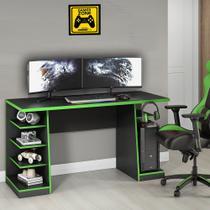 Mesa para Computador / Gamer XP Verde 136x60cm com 6 Prateleiras e Gancho para HeadSet - NOTAVEL