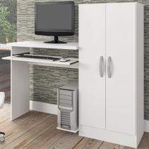 Mesa Para Computador Irlanda 2 Portas Branco Fosco - Atualle Móveis -