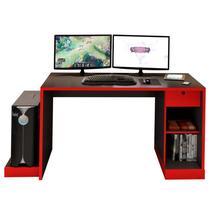 Mesa para Computador Notebook Desk Game DRX 3000 Preto/Vermelho - Móveis Leão -