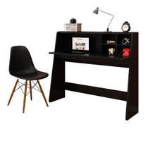 Mesa para Computador Notebook Escrivaninha Idealle e Cadeira Charles - Mpozenato - Mpozenato - clbfa
