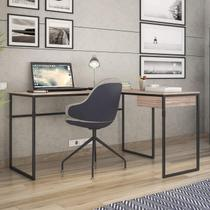 Mesa para Escritório 1 Gaveta Erica Novabras Carvalho/Preto -