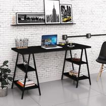 Mesa Para Escritório 1,50m Estilo Industrial Cavalete Kuadra - Compace