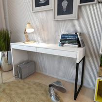 Mesa para Escritório 2 Gavetas Desk Siena Móveis Branco/Preto -