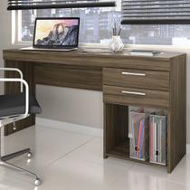 Mesa Para Escritório Office 2 Gavetas Nogal Trend - Notavel - Notável Móveis