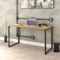 Mesa para Escritório Office Estilo Industrial 135cm Kuadra Compace Carvalho -