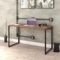 Mesa para Escritório Office Estilo Industrial 135cm Kuadra Compace Nogal -