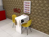 Mesa para Manicure com Expositor de Esmalte - BD Arte E Decoração