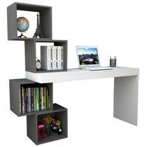 Mesa para Notebook Escrivaninha 4 Nichos ESC 3004 Branco/Grafite - Appunto -