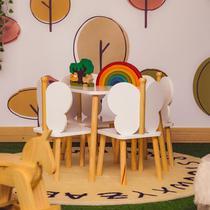 Mesa para Quarto Infantil Hora de Brincar Divicar Branco/Natural - Divicar Móveis