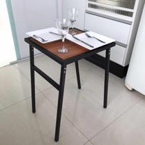 Mesa Pequena Quadrada Para Cozinha Ou Sacada De Apartamento - MetalCromo