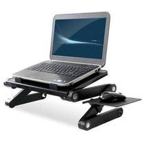 Mesa Portátil Para Notebook Dobrável Com Cooler Multifuncional Preta - Oem