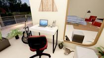 Mesa prática escrivaninha pe quadro 850x470x800 branca - Movary