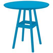 Mesa Pub 80 Cm Azul Madeira Maciça 91452080 Tramontina -